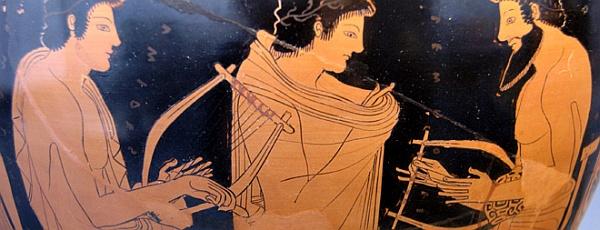Роспись на вазе древнегреческого художника Финтия.