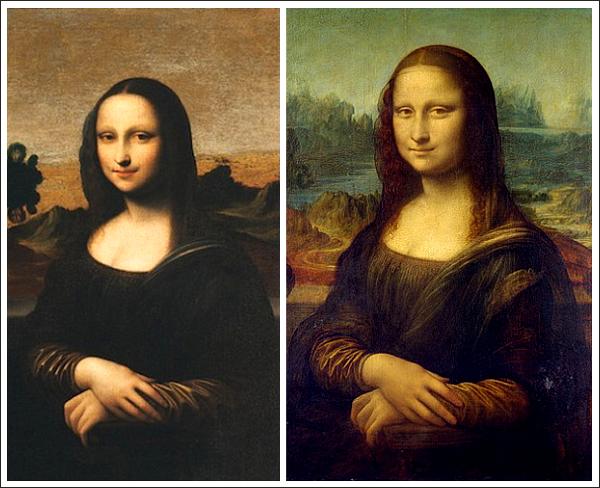 «Джоконды» из Айзелуорта (слева) и Лувра.